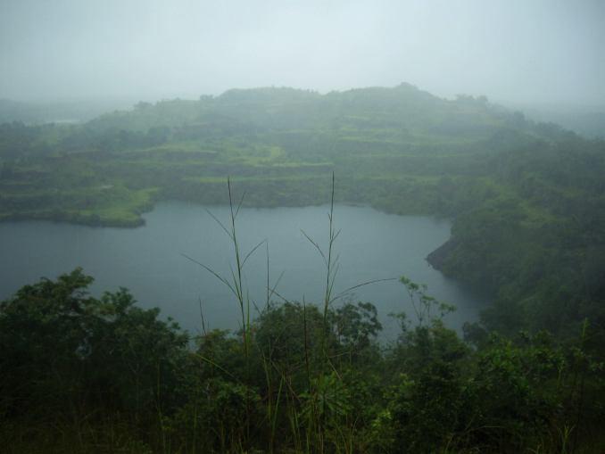 Blue lake, Une ancienne mine qui datte des années 60.