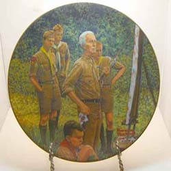 Beyond the Easel collector plate by Norman Rockwell
