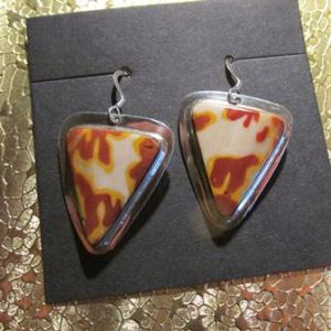 Dangle Earrings: Mookaite on Sterling Silver (JS-73)