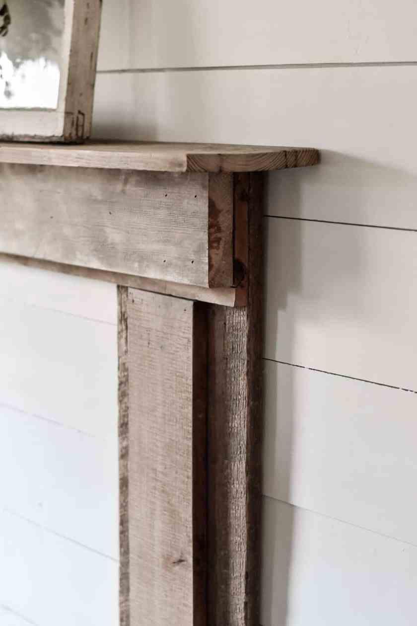 diy farmhouse fireplace mantel
