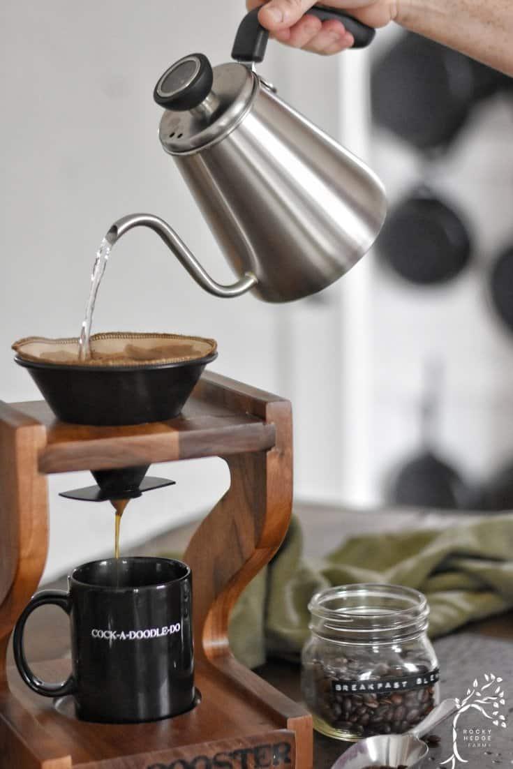 zero waste coffee grinder and filter