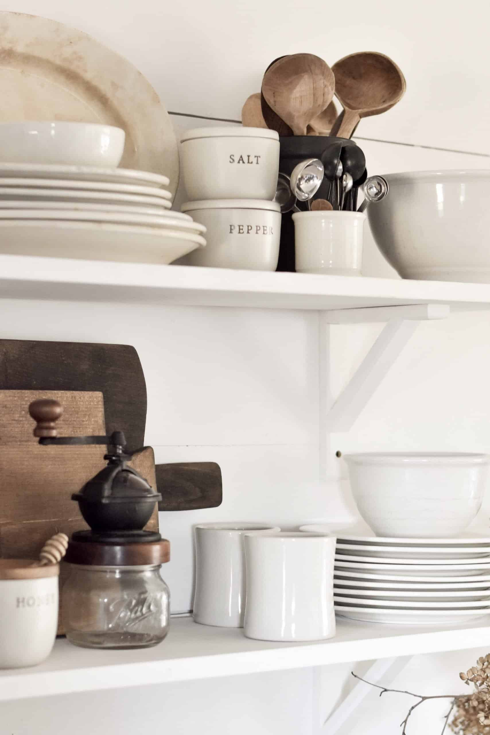 How to Style Open Shelving in the Kitchen