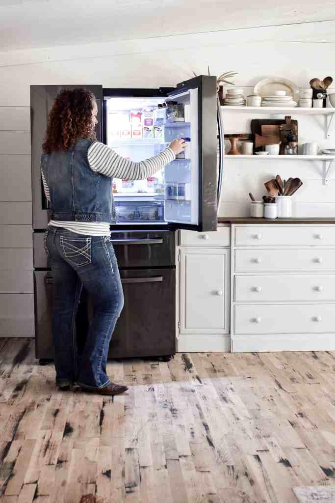 Kitchen Update - Our New Fridge Samsung Refrigerator Organization