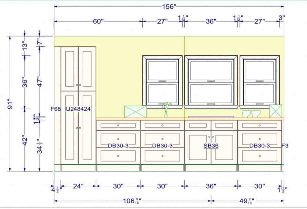Manufactured Mobile Home Kitchen Layout Plan