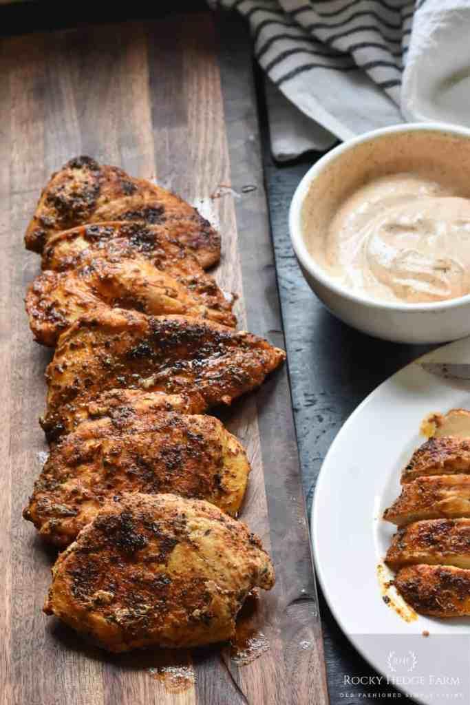 Healthy Blackened Chicken with Blackened Chicken Sauce