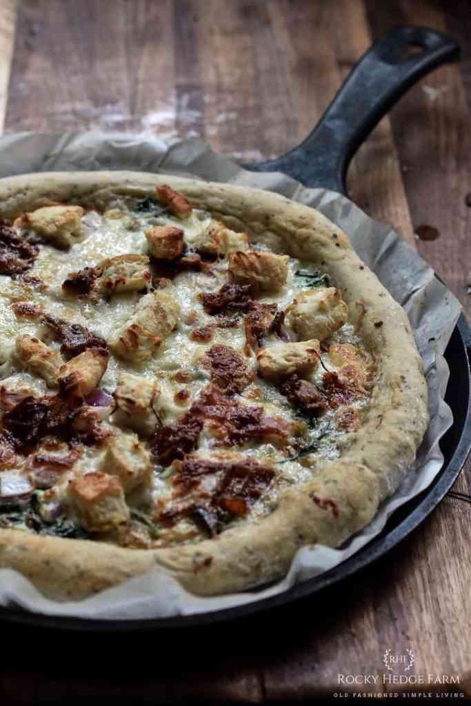 Cast Iron Sourdough Pizza Crust