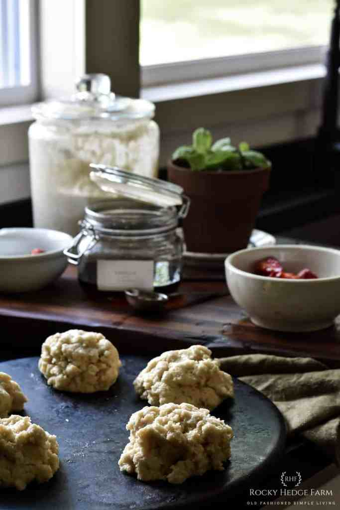 Sourdough Biscuits with Strawberry Shortcake