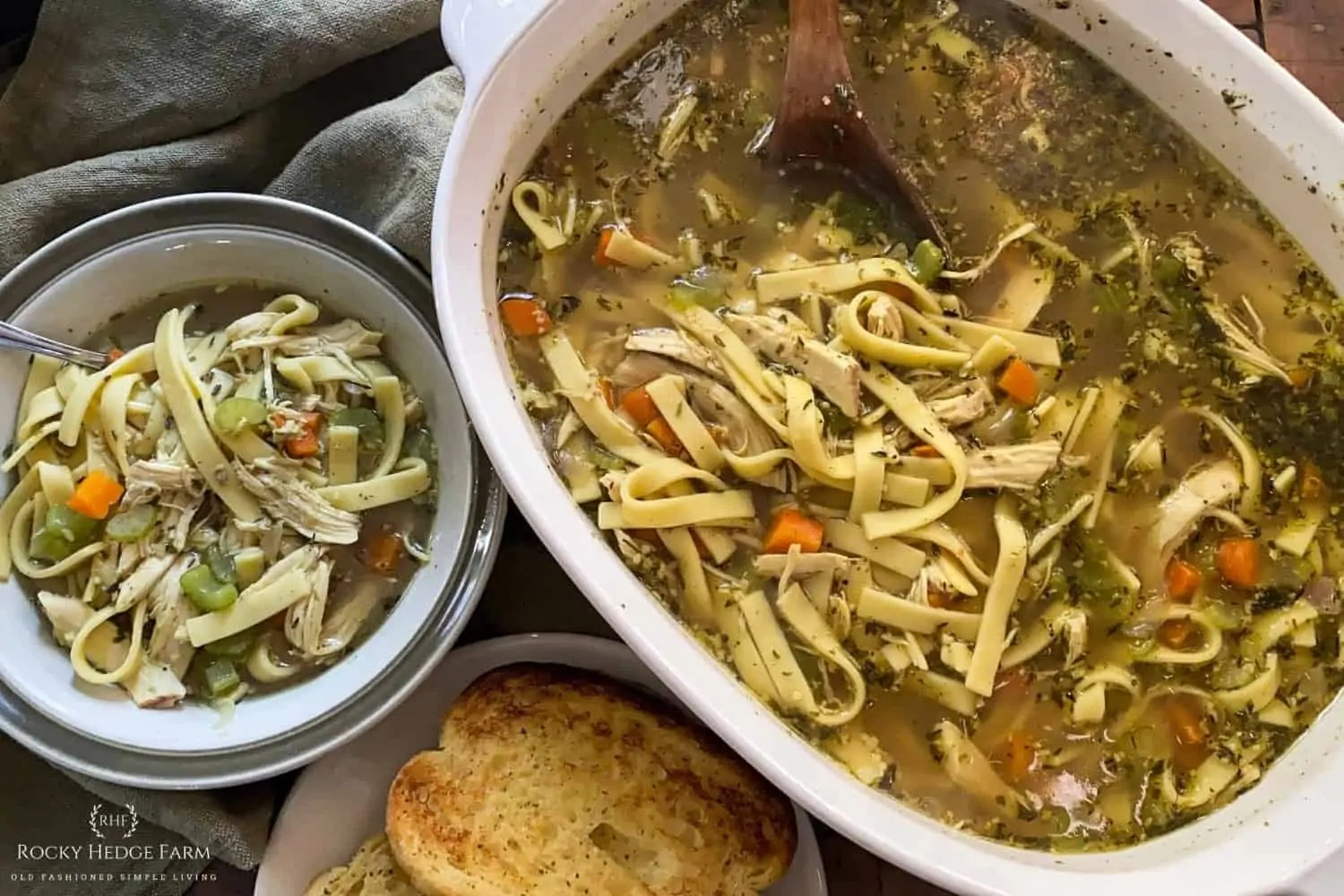from scratch chicken noodle soup