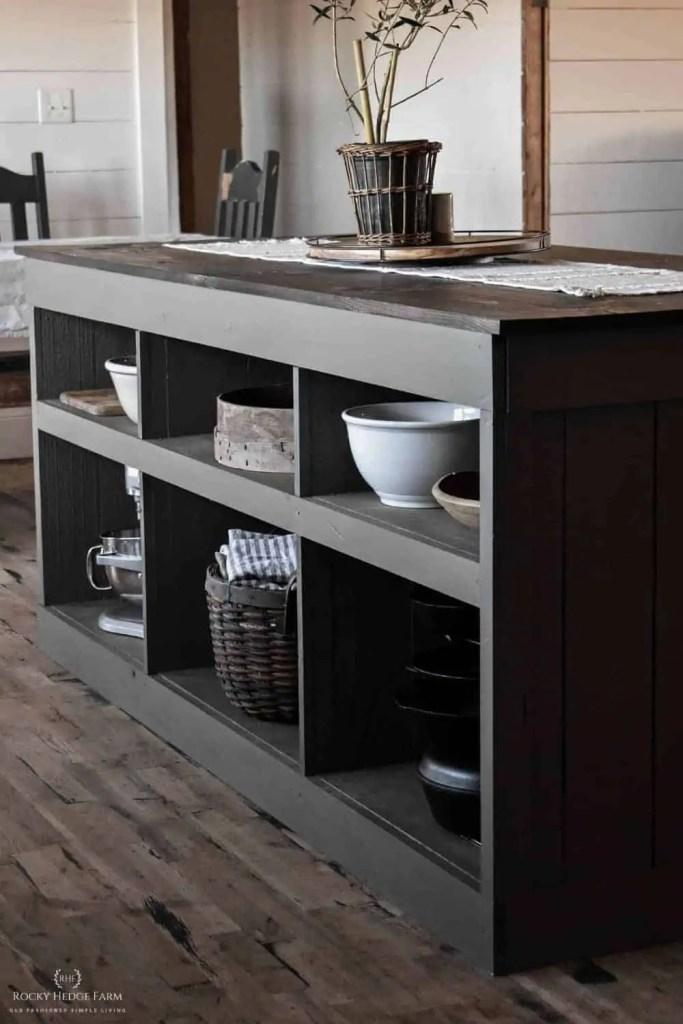 DIY Kitchen Island Storage