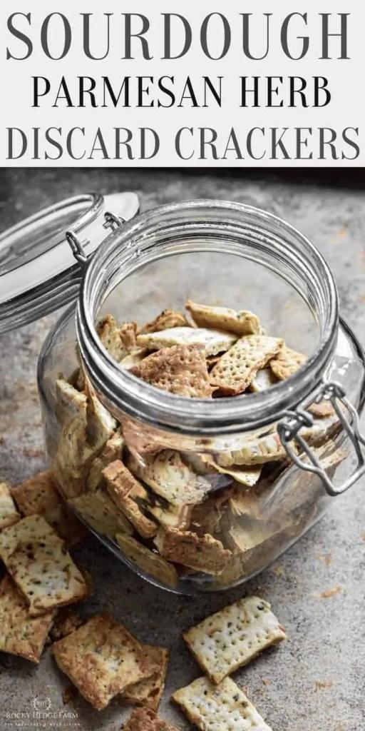 homemade sourdough discard crackers