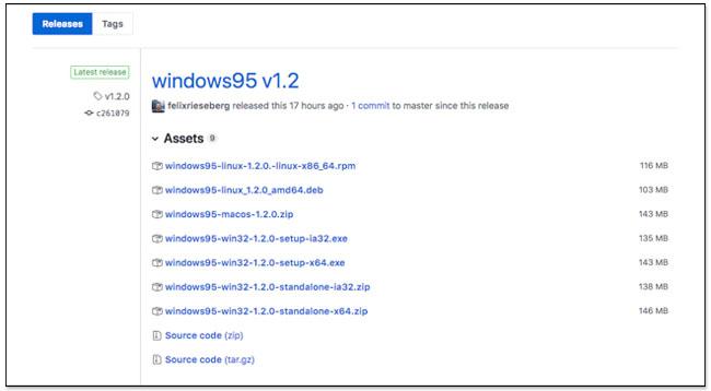 Windows 95 App,螢幕快照 2018 08 26 上午9 48 20