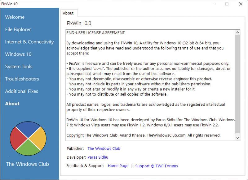 一鍵 解決 Windows 10 各項問題、疑難雜症|FixWin for Windows 10 1