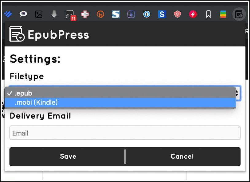 網頁轉成電子書 EpubPress 免費擴充外掛 ( Chrome / Firefox ) 3