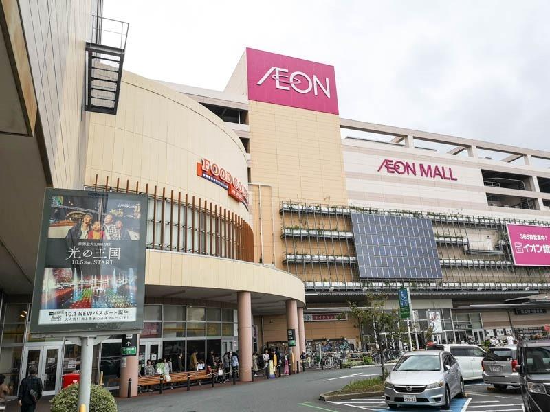 日本 AEON Mall 柏市介紹 免費接駁車搭乘、人潮不多、旁邊有一蘭拉麵 1