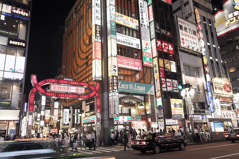 東京新宿歌舞伎町街景