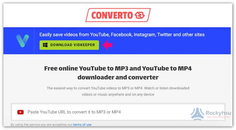 CONVERTO YouTube 轉 MP3