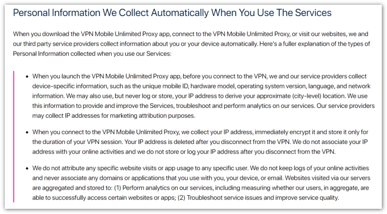 VPN Mobile Unlimited Proxy