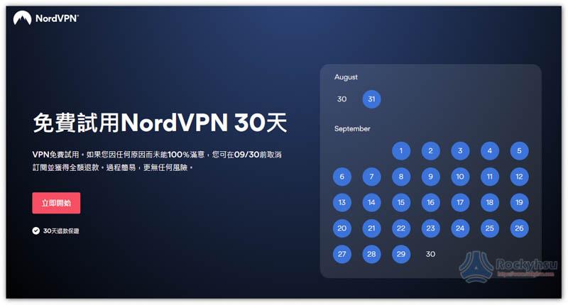 NordVPN 免費試用