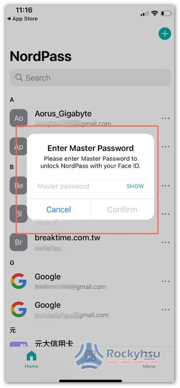 NordPass Face ID