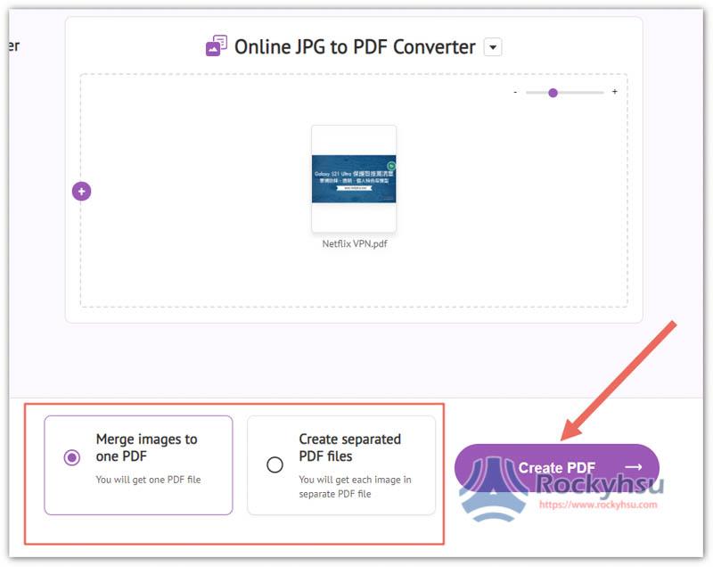 選擇合併 PDF 或分開