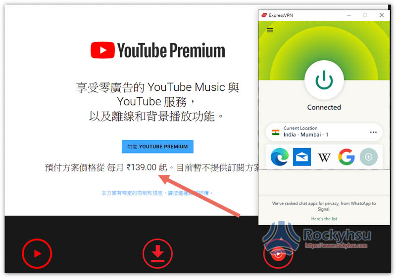 印度 YouTube Premium