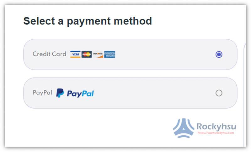 PrivadoVPN 付款方式