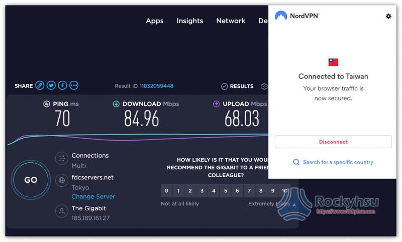 NordVPN 台灣伺服器速度 Chrome 擴充外掛