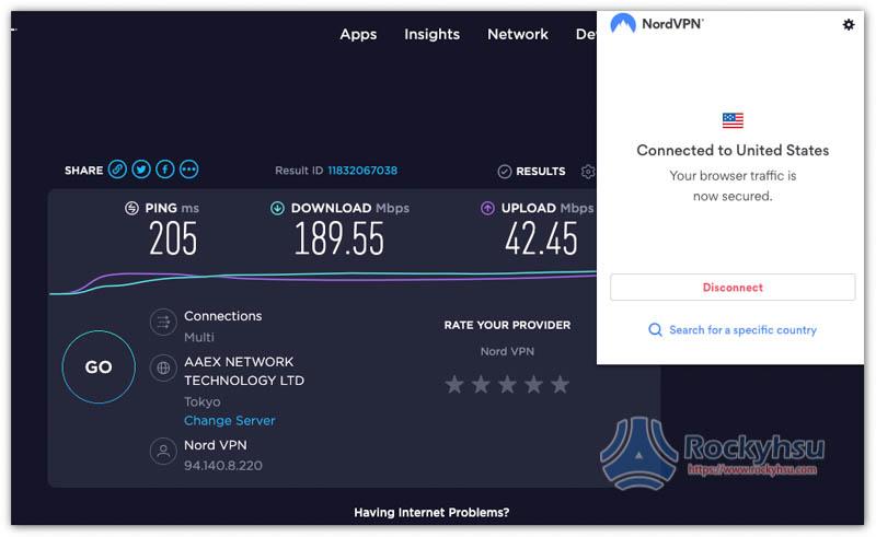 NordVPN 美國伺服器 Chrome 擴充外掛