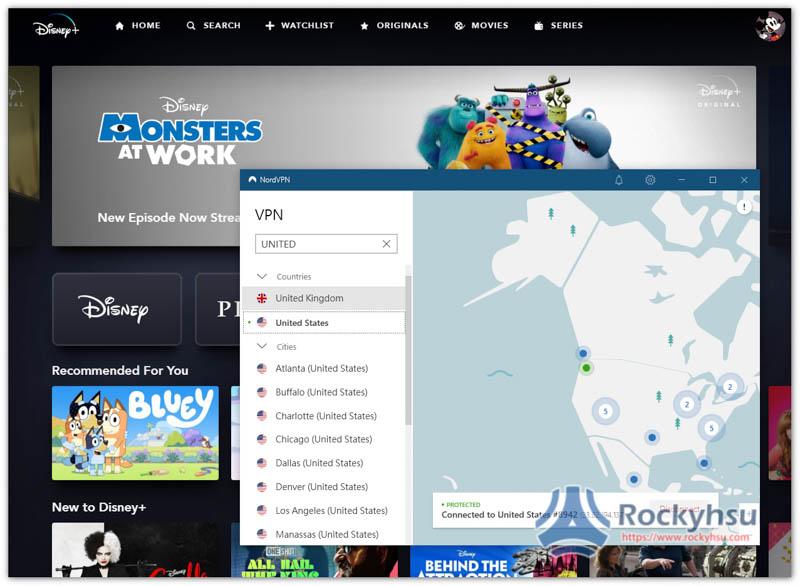 NordVPN Disney+