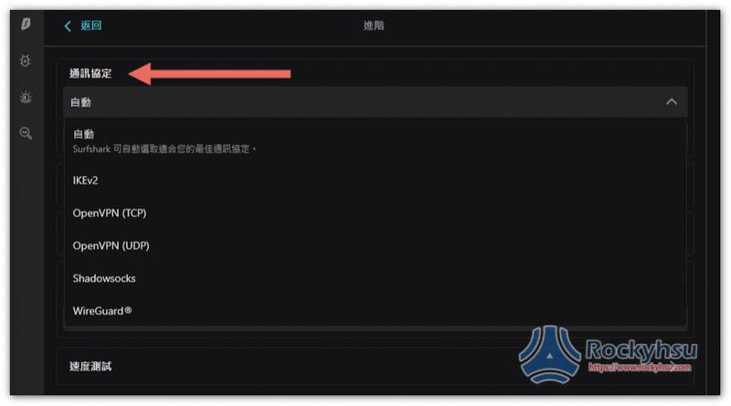 Surfshark VPN 協議