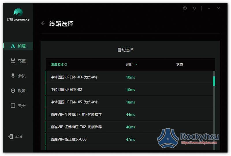 穿梭 VPN 評價伺服器清單