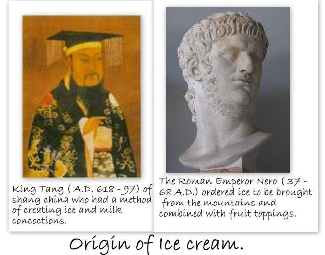 The first people who enjoyed ice cream