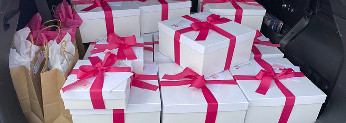 RMFT Gift Boxes in Car