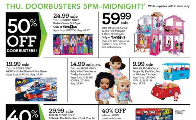 Toys R Us Black Friday Ad 2017
