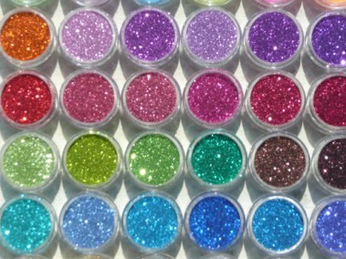 Many glitter colors to choose from!