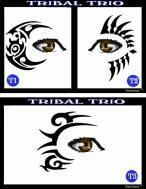 stencil - tribal trio