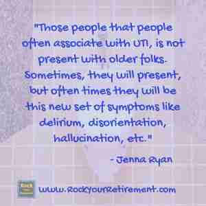 Urinary Tract Infection UTI can cause dementia