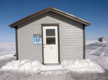 Mille Lacs Lake Ice Fishing House