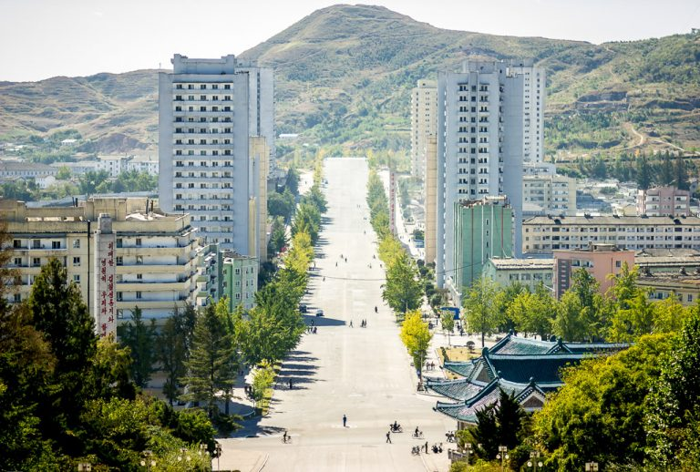 Kaesong street, North Korea