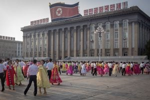 Mass Dancing North Korea