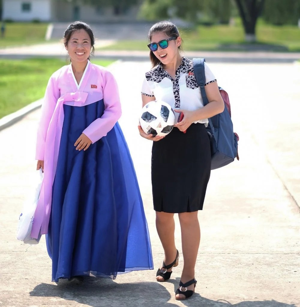 Tour guide in North Korea