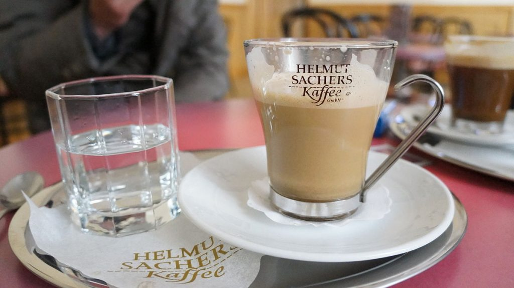 Viennese coffee in North Korea