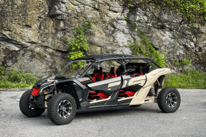 Red and Tan Can-Am X3 UTV