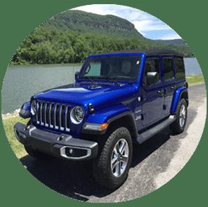 blue premium jeep