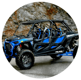 blue Polaris RZR Turbo-S
