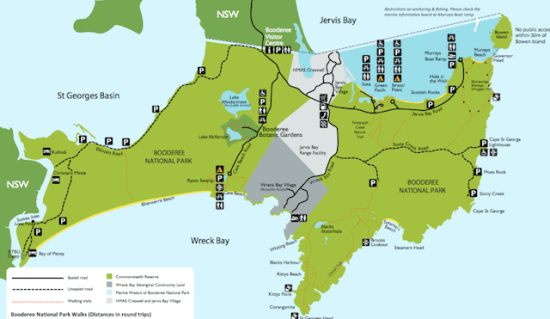 Booderee National Park Map