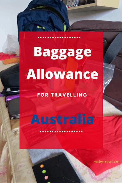 Baggage Allowance Australia Flight
