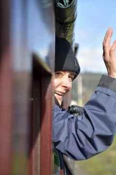 Michela on Puffing Billy Steam Train