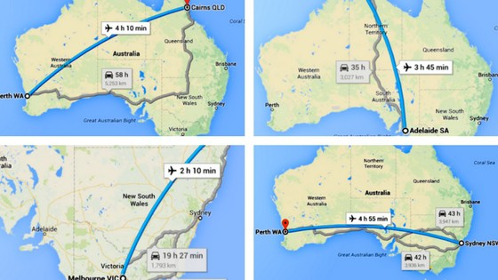 Australia Travel Distances