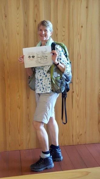 Dual Pilgrim Certificate at the Heritage Centre Kumano Kodo